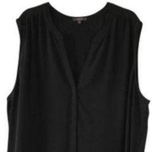 NYDJ Black V-Neck Sleeveless Top 3X